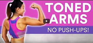 Toned Arms at Home: No Push-ups! (Beginner Friendly)