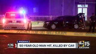 Pedestrian struck and killed Friday night in Phoenix