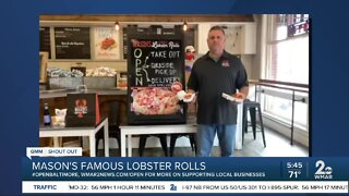 """Mason's Famous Lobster Rolls says """"We're Open Baltimore!"""""""
