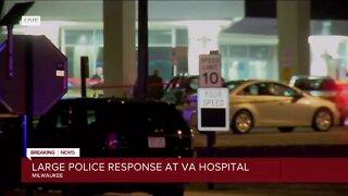 Large police presence at Milwaukee's VA Medical Center