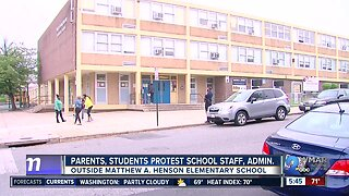 Parents, students protest school staff, administration at Matthew A. Henson Elementary School