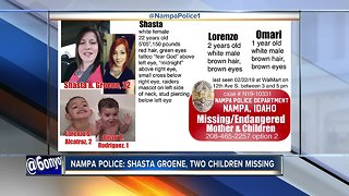 Nampa Police looking for missing, endangered mother Shasta Groene and children