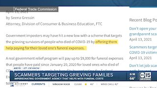 Scammers targeting grieving families amid COVID-19