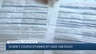 Elderly couple stunned by used car warranty rules