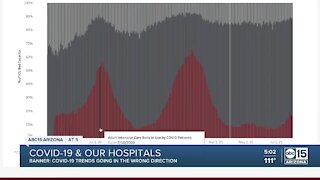 Banner Health leader warns about COVID trends in Valley hospitals