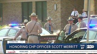 Community honor CHP officer Scott Merrit