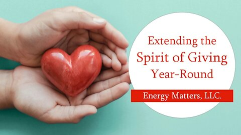 Extending The Spirit Of Giving Year Round