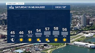 Saturday is sunny but chilly with temps in the 50s