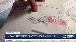 Officials discuss the safety of mail in ballots