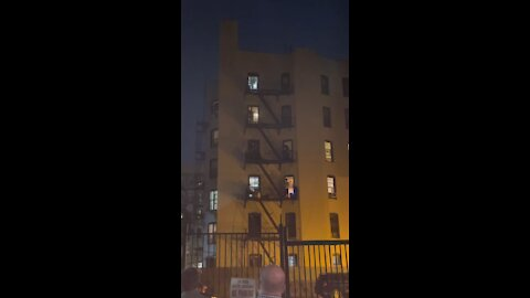 Band jams out on fire escape