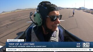 Two WWII veterans got to take a dream flight in an iconic aircraft today