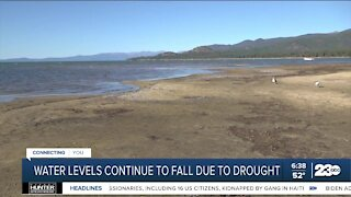 Water levels in California continue to fall due to drought