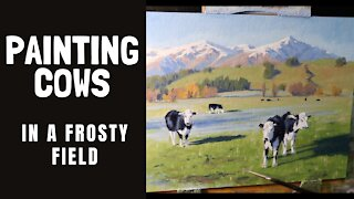 PAINTING COWS in a Frosty Field