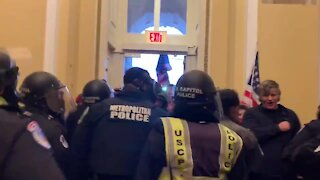Trump Supporters Face-Off with DC Police inside DC Capitol Building