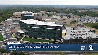 City employee vaccine deadline pushed back five weeks