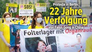Hunderte Anhänger protestieren in Berlin: 22 Jahre Verfolgung von Falun Gong in China