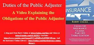 Duties of the Public Adjuster