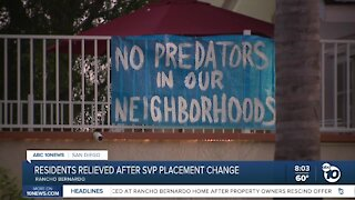 Residents relieved after a sexual predators placement change