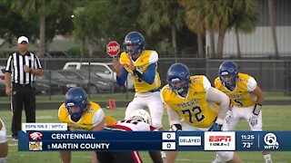 Martin County and Centennial to resume tomorrow