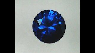 YAG Blue Sapphire Imitation Round Brilliant