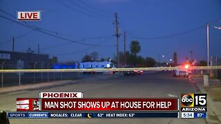 Man shot shows up at Phoenix home for help
