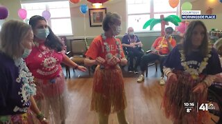 Assisted living facility residents, staff celebrate with party after vaccinations