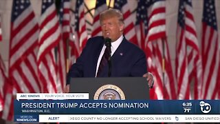 Trump accepts presidential nomination at RNC