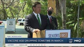 Governor DeSantis drops vaccine age