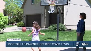 Parents reminded of importance of getting COVID-19 test