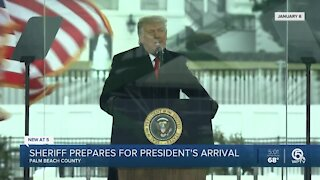 When will President Trump relocate to Palm Beach County?