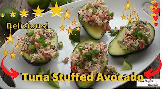 Tuna Stuffed Avocado Recipe - Easy Fun Recipe