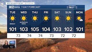 Another week of triple digits in the Valley