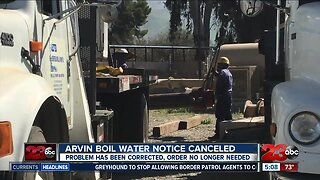 Arvin boil water notice canceled