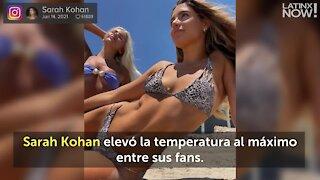 Sarah Kohan presume de sus sexis curvas al estilo sirena