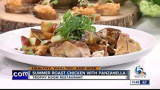 Recipe for summer roast chicken with panzanella