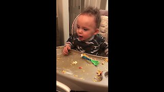Baby's contagious laughter will brighten your day
