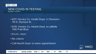 Two New COVID-19 testing sites in Hendry County, Florida
