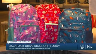 2 Cares for the Community: Backpack drive kicks off