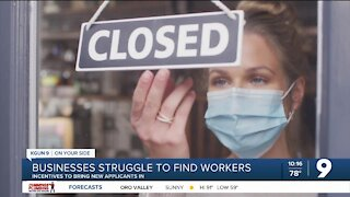 Small businesses struggle to find workers
