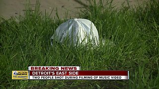 Two men shot during music video filming in Detroit