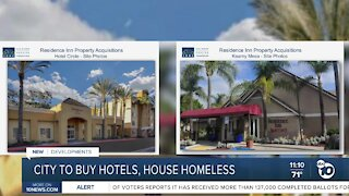City to buy hotels, house homeless