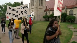 'I don't want to be fearful': Dozens rally for safe driving in Milwaukee