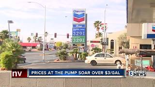 Las Vegas gas prices now 40 cents above average