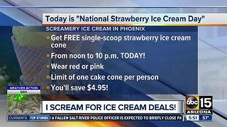 Get FREE ice cream on Tuesday!
