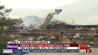 Home burned by Stagecoach Fire