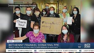 Bethenny Frankel donating PPE