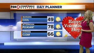 FORECAST: Pleasant Valentine's Day