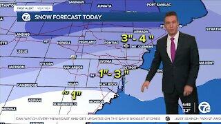 Metro Detroit Forecast: Winter Weather Advisory until 4 p.m. today