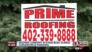Roofing company staying busy during coronavirus pandemic