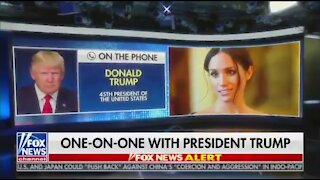Trump's Hilarious Reaction To Meghan Markle Possibly Running for President
